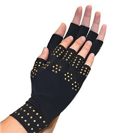 Style Fingerless Gloves (Women's Fingerless Anti-Arthritis Magnetic Glove For Hand Pain Relief )
