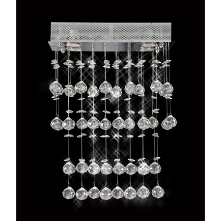 Artistry Lighting Galaxy Collection 8009-160824 Crystal/Steel 4-light Chandelier With Chrome Finish
