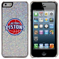 Detroit Pistons iPhone 5/5s Bling Thinshield Snap-On Case - Silver