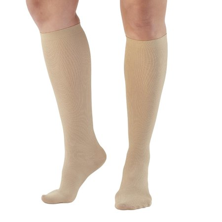 Womens Stretch Walker - Ames Walker Women's AW Style 136 Microfiber Compression Knee High Trouser Socks - 20-30 mmHg Nylon/Spandex 136-P