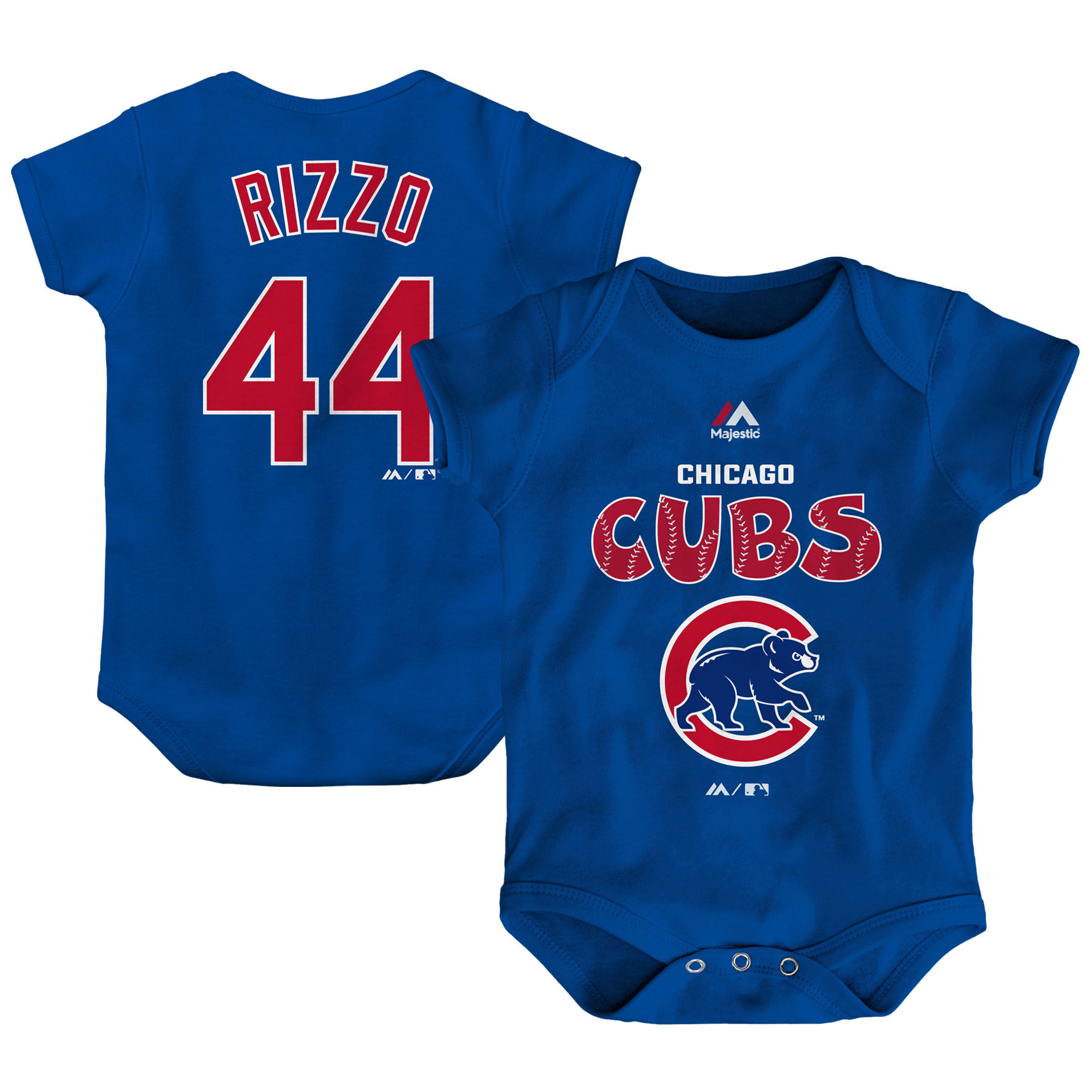 Anthony Rizzo Chicago Cubs Majestic Newborn & Infant Stitched Player Name & Number Bodysuit - Royal