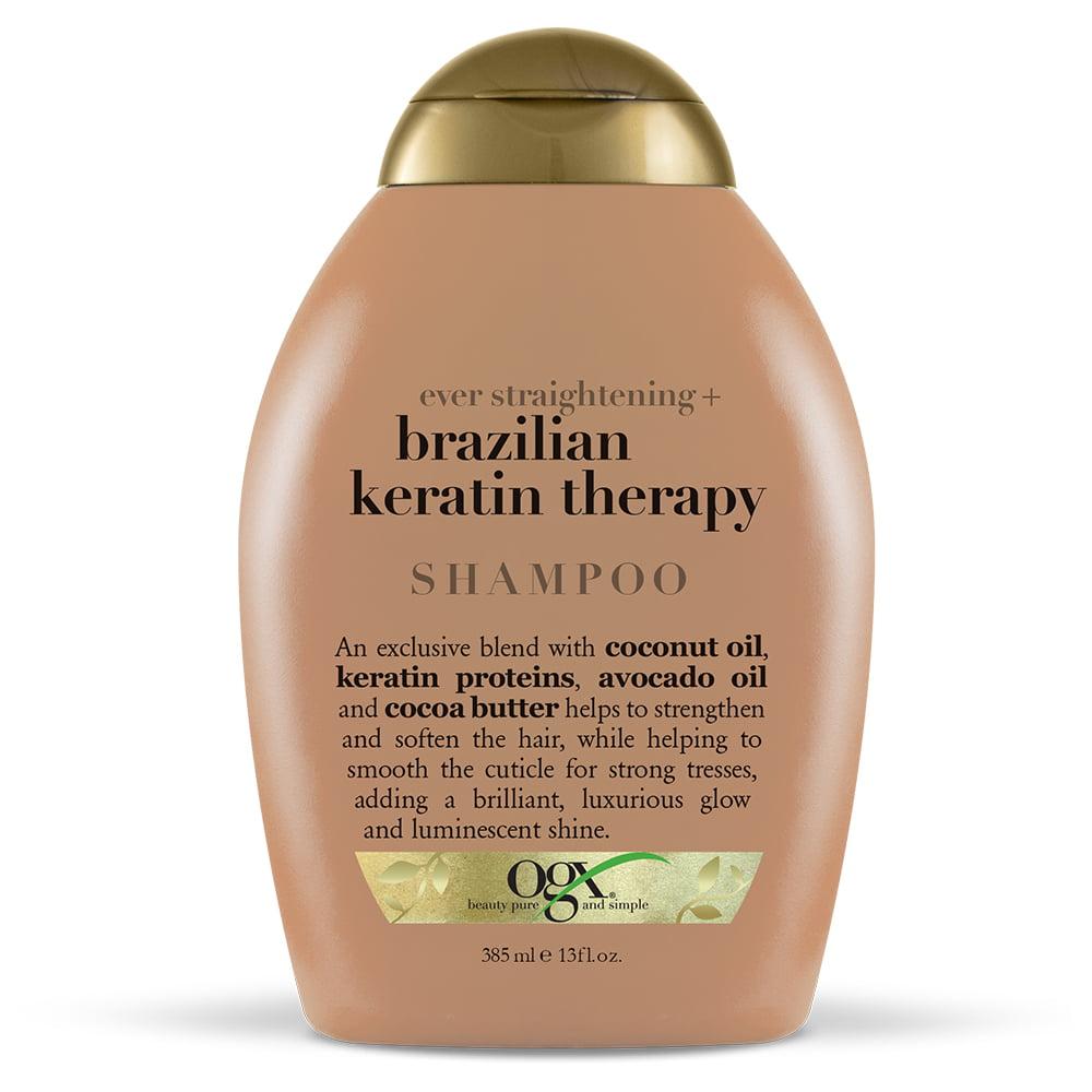OGX Ever Straightening + Brazilian Keratin Therapy Shampoo, 13 FL OZ