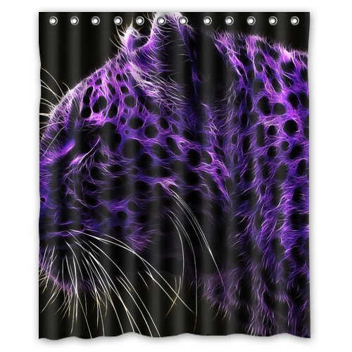 artistic shower curtains. Delighful Shower DEYOU Purple Tiger With Black Dots Artistic Shower Curtain Polyester Fabric Bathroom  Size 60x72 Throughout Curtains