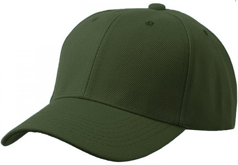 4fc06f97302 Unisex Plain Structured Curved Visor Adjustable Velcro Baseball Cap Hat - 3  Pack Value - Walmart.com