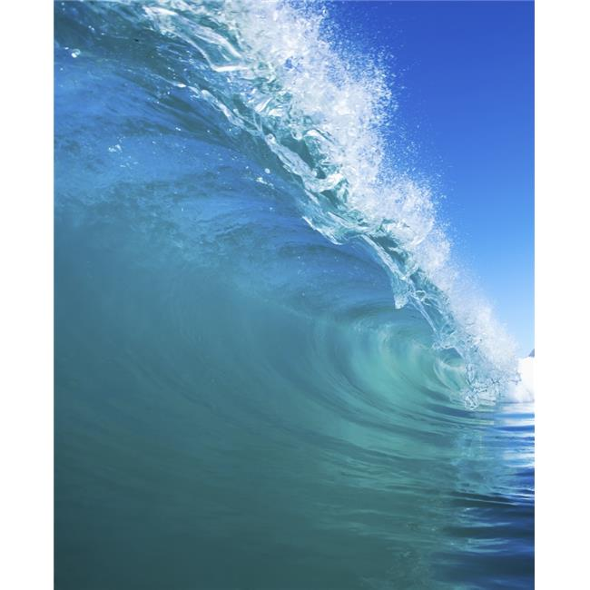 Blue Ocean Wave Poster Print by Design Pics Vibe, 24 x 30 - Large