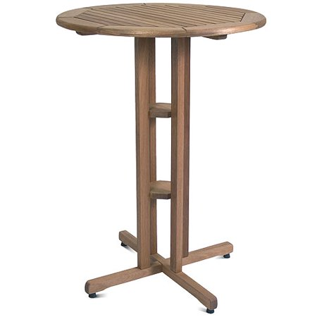 Ibiza FSC Eucalyptus Wood Outdoor Round Bar Table, Brown