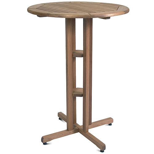 Ibiza FSC Eucalyptus Wood Outdoor Round Bar Table, Brown