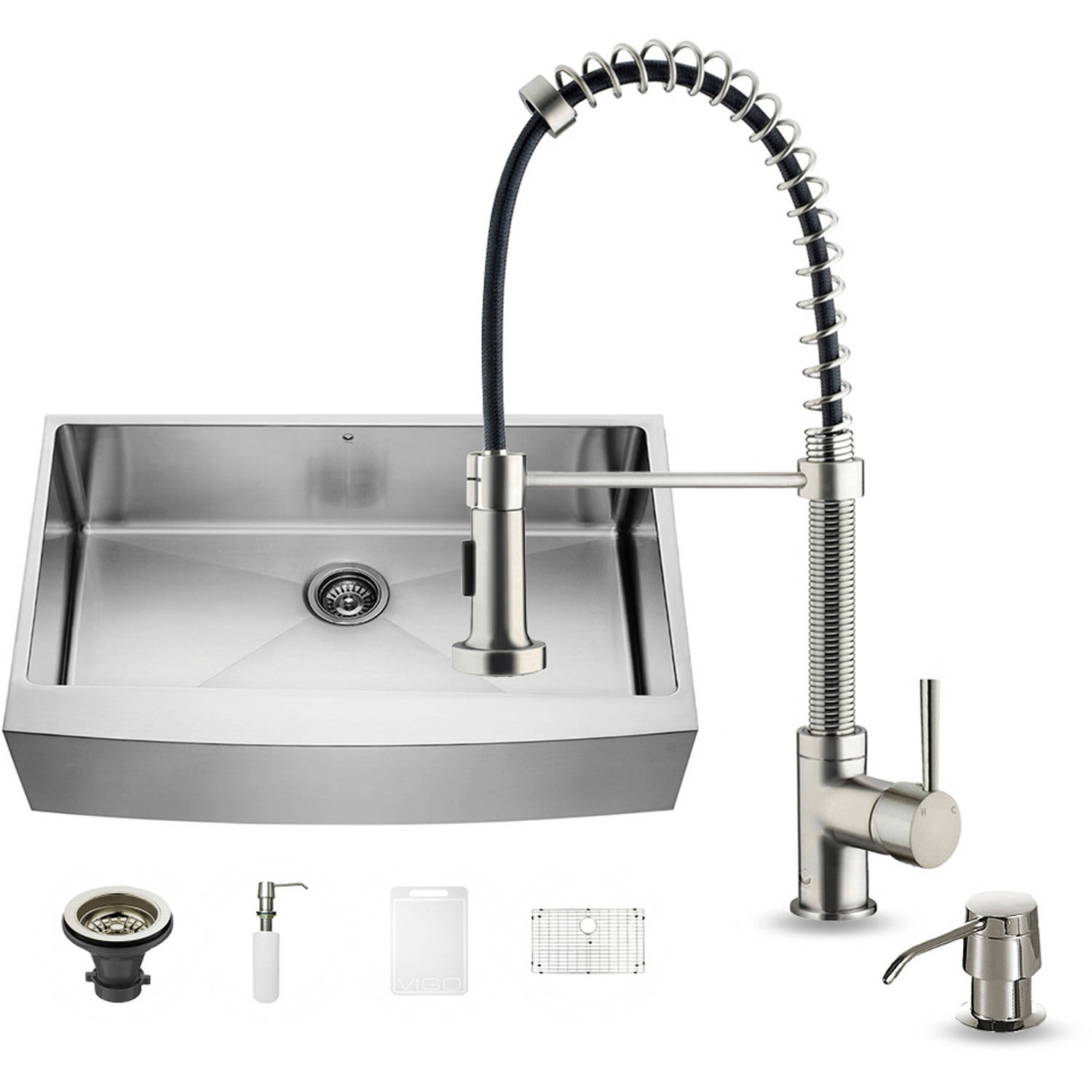 """Vigo All-in-One 36"""" Farmhouse Stainless Steel Kitchen Sink and Faucet Set by Generic"""