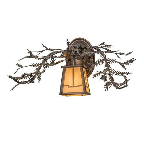 Meyda Tiffany 49980 16 Inch W 1 Lt Pine Branch Wall Sconce