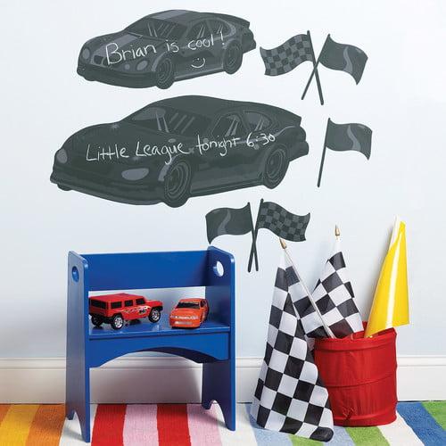 Wallies Fast Cars Chalkboard Wall Decal