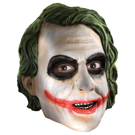 Adult 3/4 Joker Vinyl Mask - Batman Dark - The Joker Halloween Mask