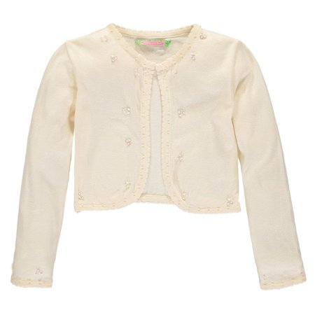 Sophie and Sam Girls 2T-4T Pearl Scallop Shrug Cardigan Sweater - Girls Velvet Shrug