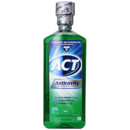 2 Pack   Act Anticavity Fluoride Rinse Mint 18 Oz Each