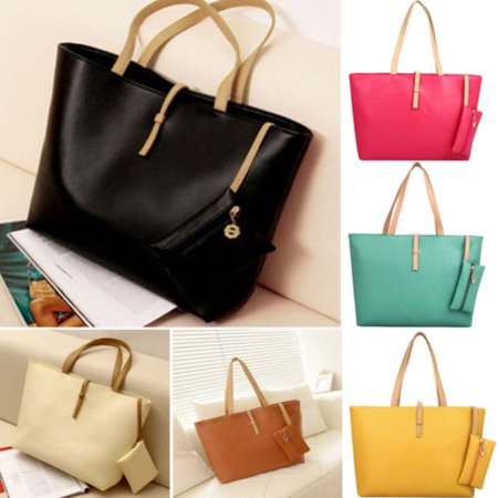 64209eb47a Women PU Leather Tote Shoulder Bags Hobo Handbags Satchel Messenger bag  Purse - Walmart.com