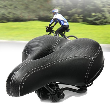 Breathable Bike Saddle Seat Cushion Wide Big Bum Sprung Men Bike Bicycle Cushion Comfort Saddle
