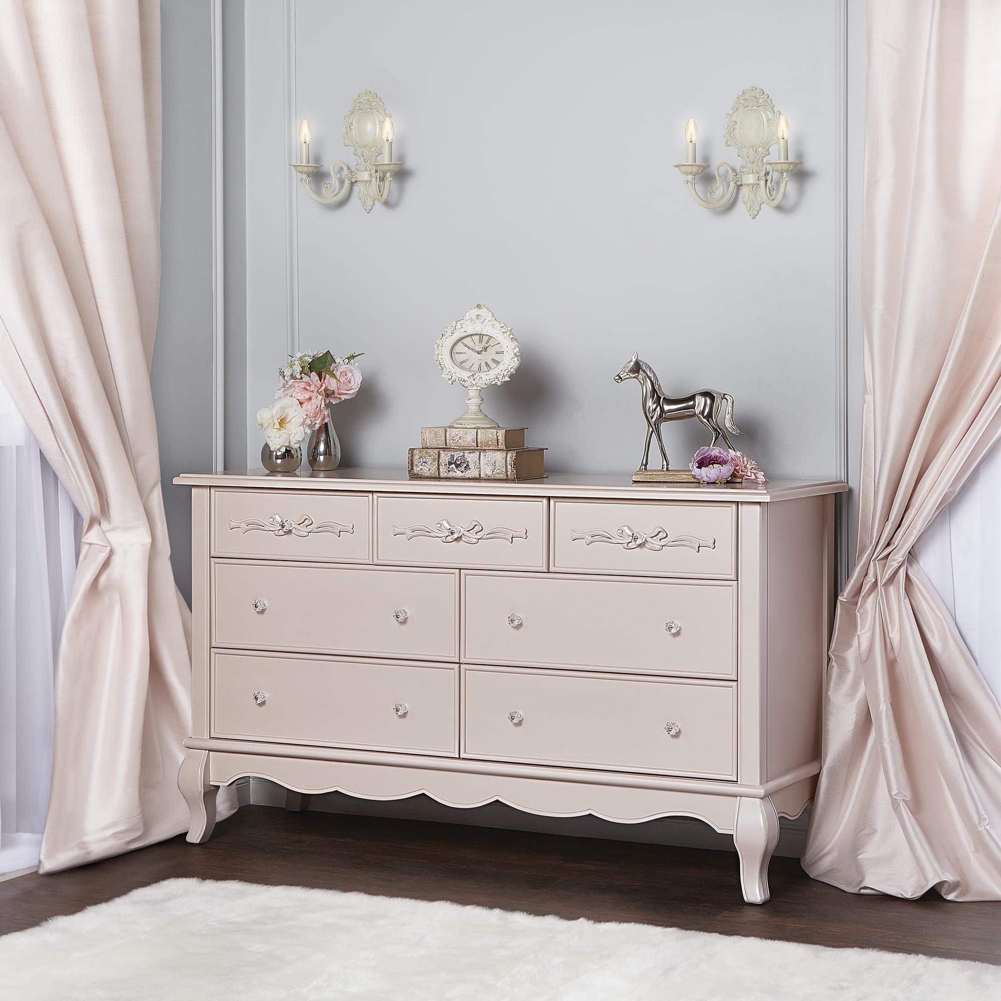 Evolur Aurora 7-Drawer Double Dresser, Ivory Lace by Evolur