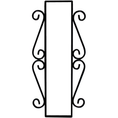 Wrought Iron House Number Vertical Frame Mission 3-Tiles Atlas Mission House Numbers