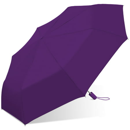 Small Umbrellas (42 Automatic opening umbrella featuring windproof frame, rubber spray handle, waterproof)