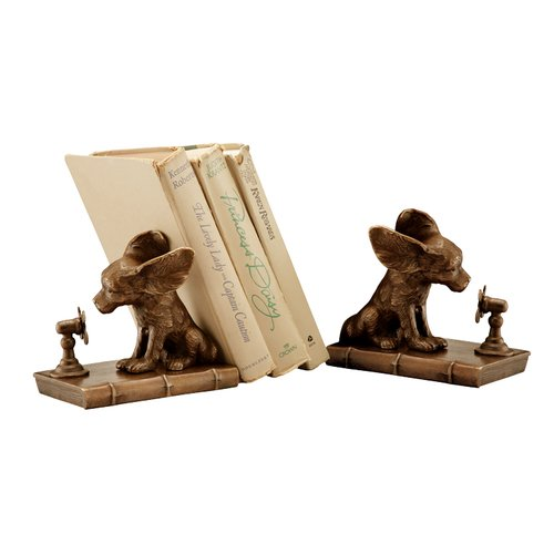 SPI Home Cool Dog Book Ends (Set of 2)