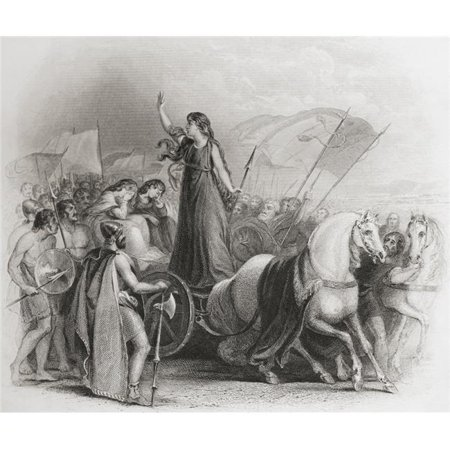 Design Pics DPI2220119 Boadicea Haranguing The Britons. Boudica - D. Ad 60 Or 61 Queen of The British Iceni Tribe From The History of England Published 1859 Poster Print, 16 x 14](Halloween History Pics)