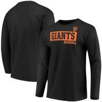 Men's Majestic Black San Francisco Giants Box Cutter Long Sleeve T-Shirt