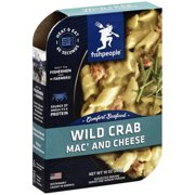 ***Discontinue*** Fishpeople Wild Crab Mac' and Cheese Bowl, 10 oz, (Pack of 6)