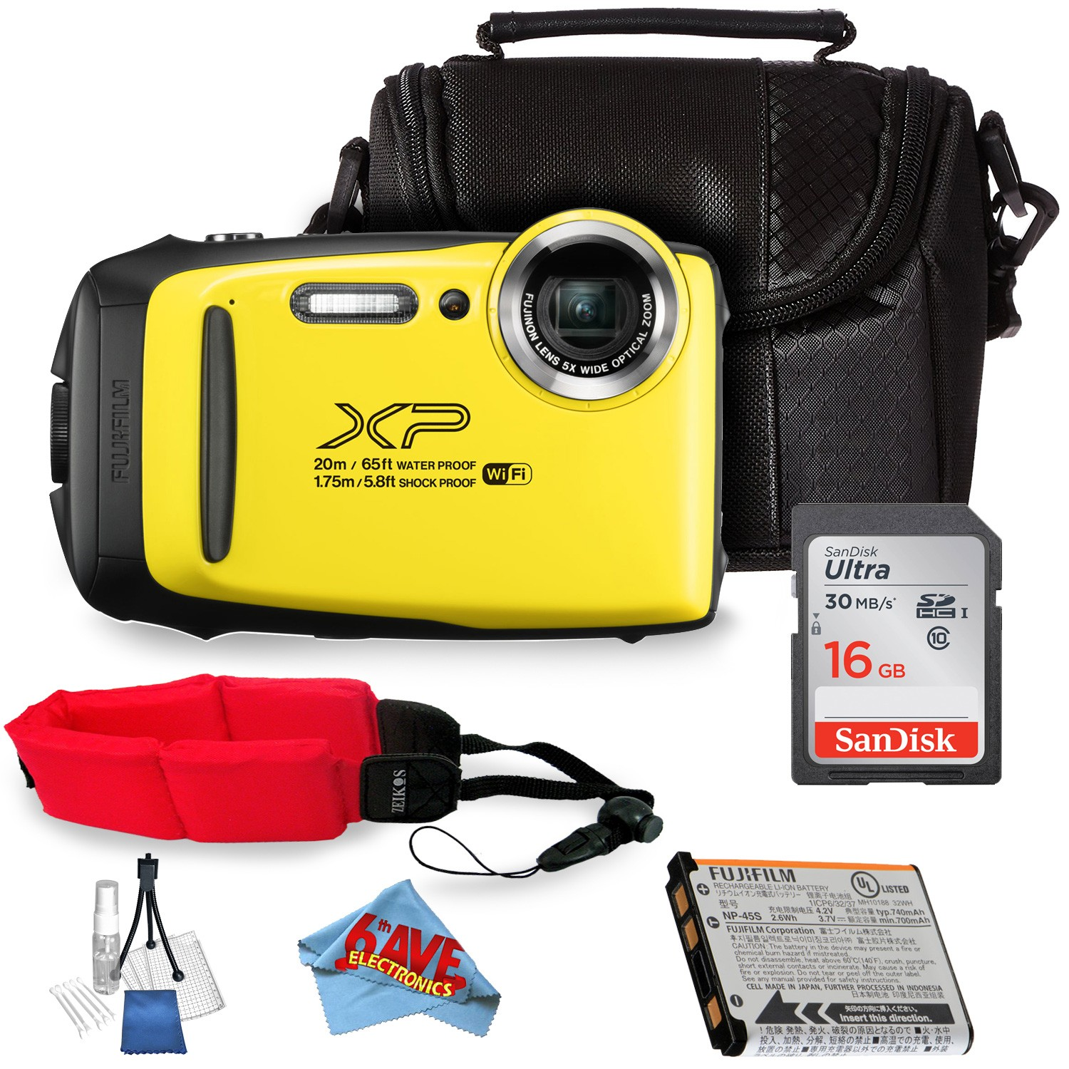 Fujifilm FinePix XP130 Digital Camera (Silver) Bundle International Model