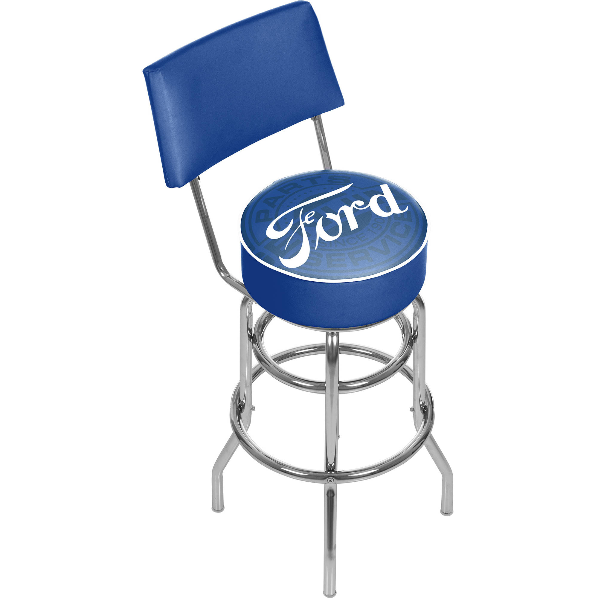 Ford Swivel Bar Stool with Back, Ford Genuine Parts