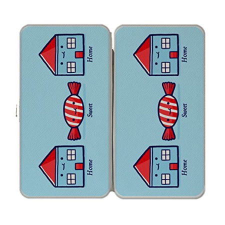 """Home Sweet Home"" Candy Houses - Taiga Hinge Wallet Clutch"