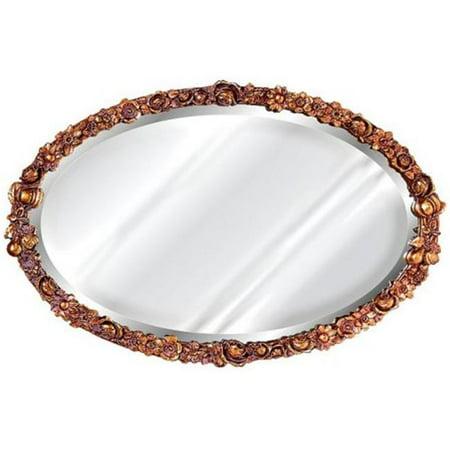 Floral Decorative Bronze Mirror