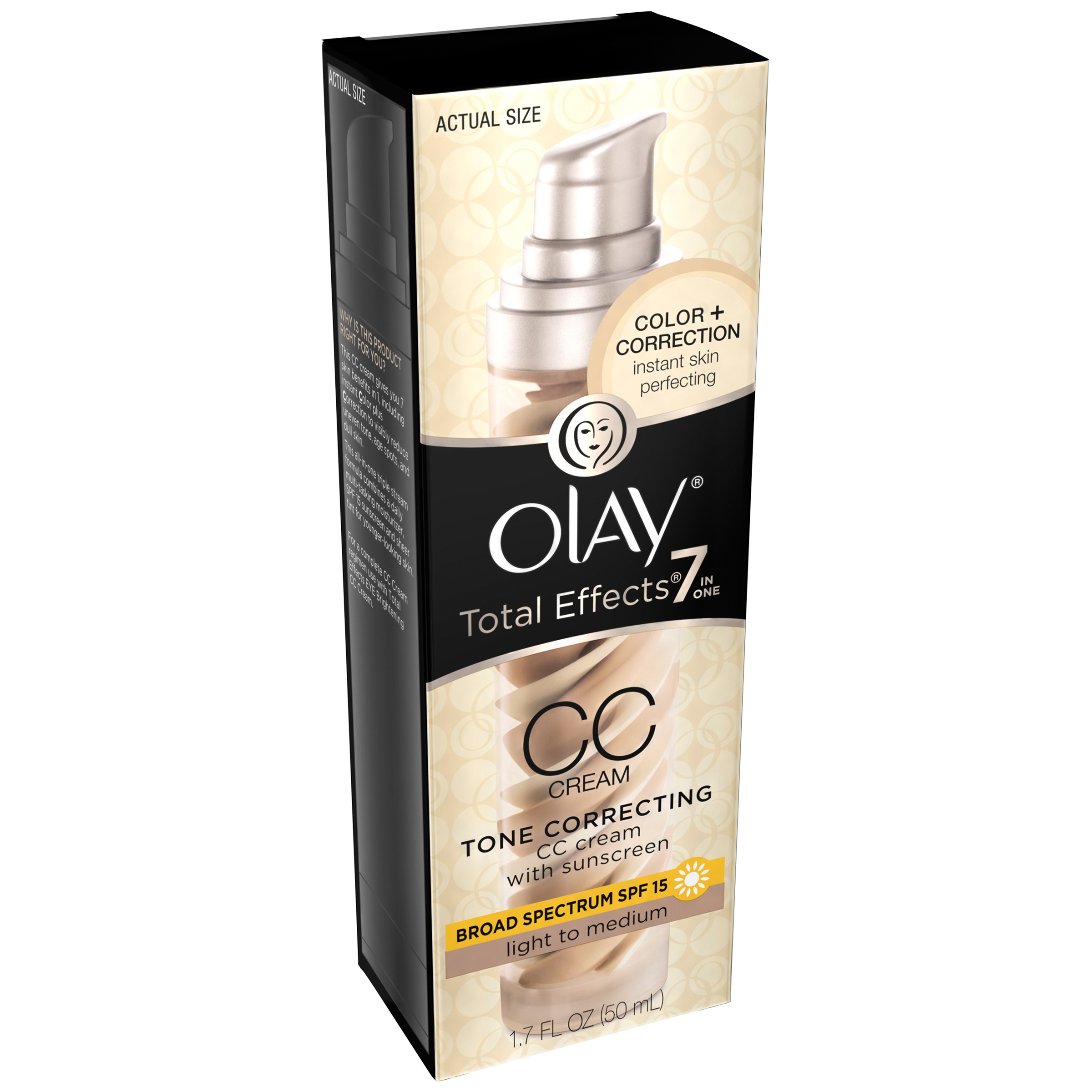 Olay Total Effects 7 in One Tone Correcting Color + Correction Cream Broad Spectrum,SPF 15,1.7 fl oz