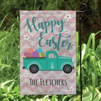 Easter Pickup Personalized Garden Flag