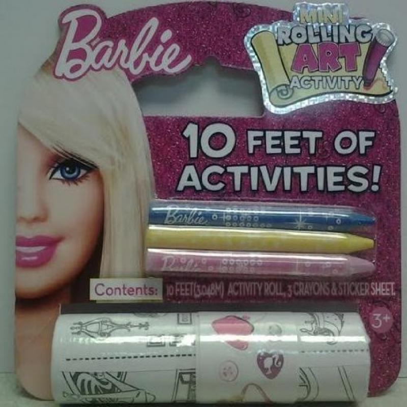 Barbie Mini Rolling Art Activity