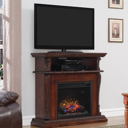 darby home co lincolnville tv stand fireplace mantel surround. Black Bedroom Furniture Sets. Home Design Ideas