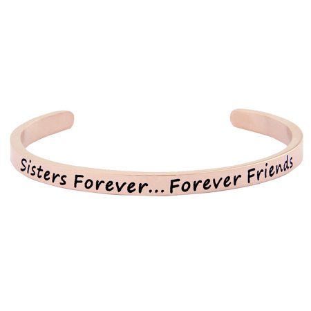 Sisters Forever Cuff Bracelet Forever Friend Bangle Friendship