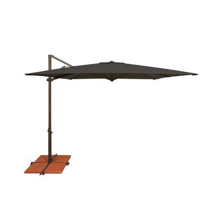 Simplyshade 8 6 Ft Skye Square Rotating Cantilever Umbrella With Cross Base Black