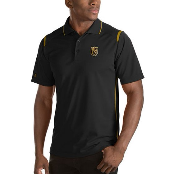 sports shoes 7e7fc 7172c Antigua - Vegas Golden Knights Antigua Merit Polo - Black ...