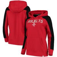 Houston Rockets Fanatics Branded Women's Iconic Fleece Hoodie - Red/Black