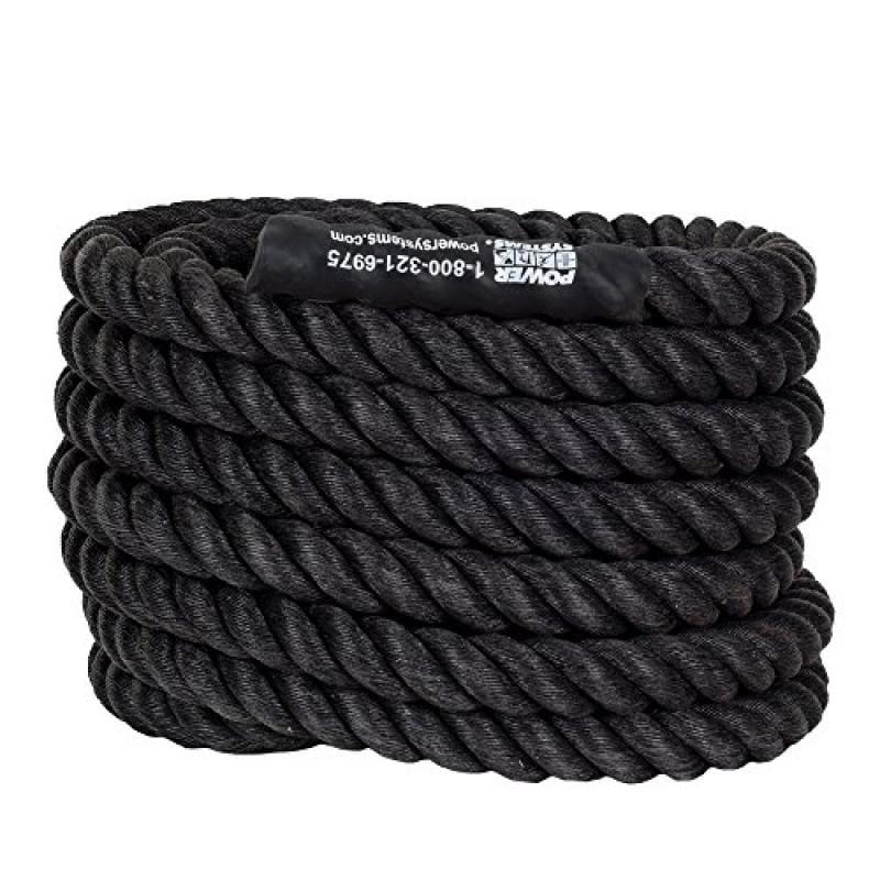 Power Systems Power Training Rope, Black (30-Feet x1.5-Inch Diameter)