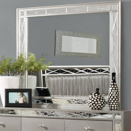 "Coaster Company Leighton Dresser Mirror, Metallic Mercury 40""x40"""