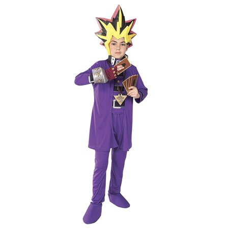 Yu-Gi-Oh! Boys Anime Halloween Costume Jacket, Pants & Vinyl Headpiece Small 4-6](Yugioh Halloween Costume)