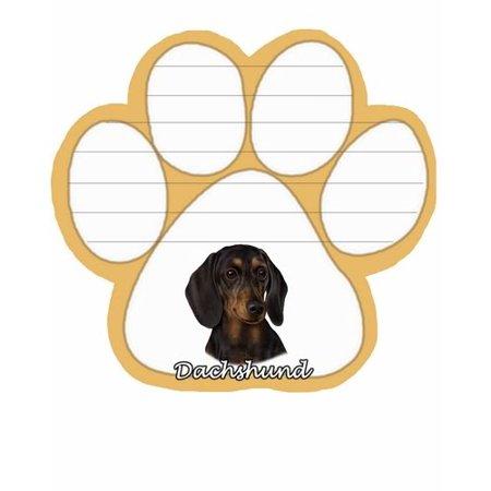 Black Dachshund Dog Paw Magnetic Note Pad