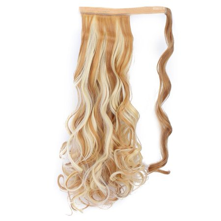 Herwey Long Curly Hair Extension Wig Piece Traceless Invisible Synthetic Ponytail Hair Piece - image 3 of 8