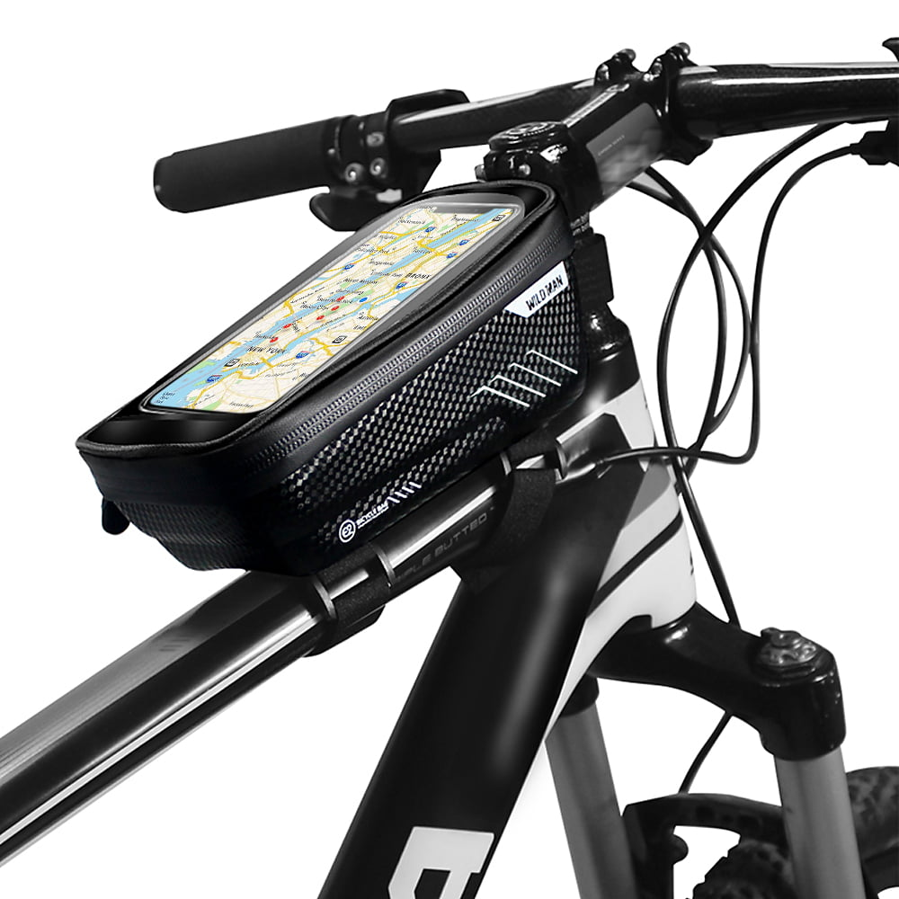 Waterproof MTB Bicycle Touch Screen Case Mobile Phone Front Bag Tube Frame Pouch