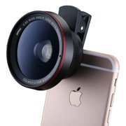 Mpow MLens V3 2 in 1 Clip-On 0.6X Professional Wide Angle High Definition Lens with 37mm Thread, 10X Macro Lens, for IOS & Android Smartphones and Pro Cameras