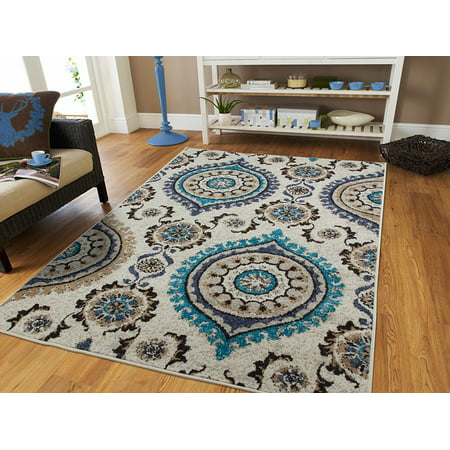 Century rugs luxurious contemporary area rugs blue 8x10 for Dining room 10 x 11