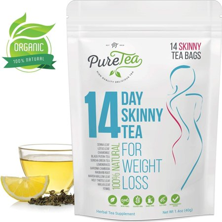 PureTea Skinny Tea, 14 Day Skinny Tea, Tea Bags, 14 Ct