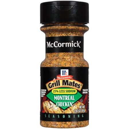 Mccormick Grill Mates 25  Less Sodium Montreal Chicken Seasoning  2 87 Oz