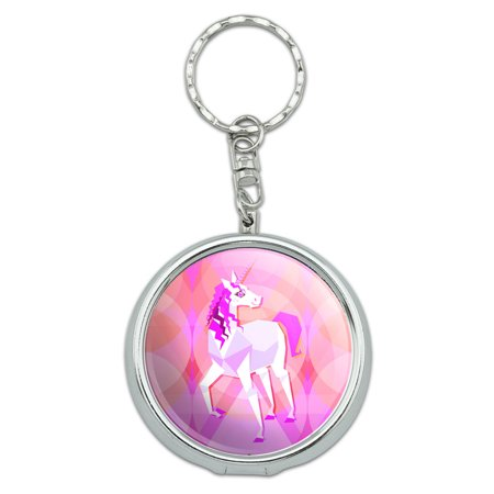 Geometric Unicorn Pink Fantasy Portable Ashtray Keychain