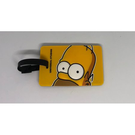 Universal Studios The Simpsons Homer Big Face Luggage Tag New with Tags ()